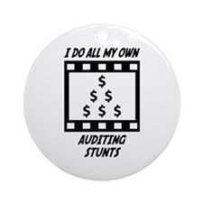 Auditing Stunts Ornament (Round)