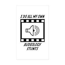 Audiology Stunts Rectangle Sticker 50 pk)