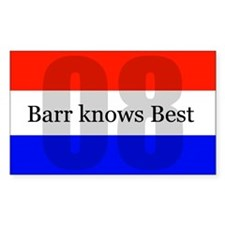 barr knows best Rectangle Decal