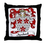 Marchand Family Crest Throw Pillow