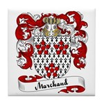 Marchand Family Crest Tile Coaster