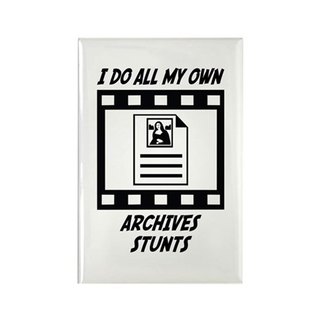 Archives Stunts Rectangle Magnet (10 pack)