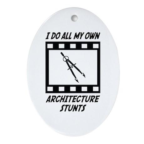 Architecture Stunts Oval Ornament