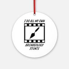 Archaeology Stunts Ornament (Round)