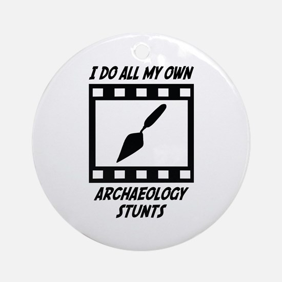 Archaeology Stunts Ornament (Round)