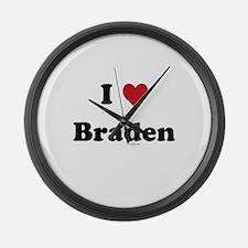 I love Braden Large Wall Clock