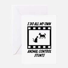 Animal Control Stunts Greeting Card