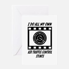 Air Traffic Control Stunts Greeting Card
