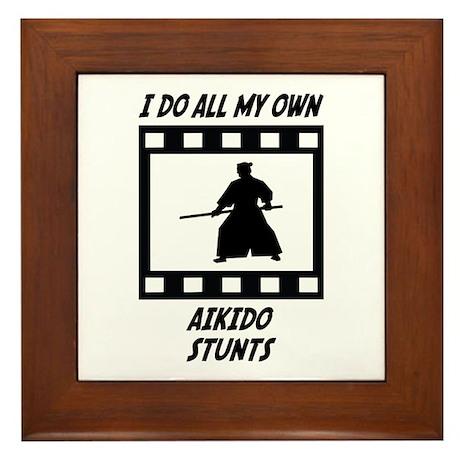 Aikido Stunts Framed Tile