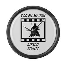 Aikido Stunts Large Wall Clock