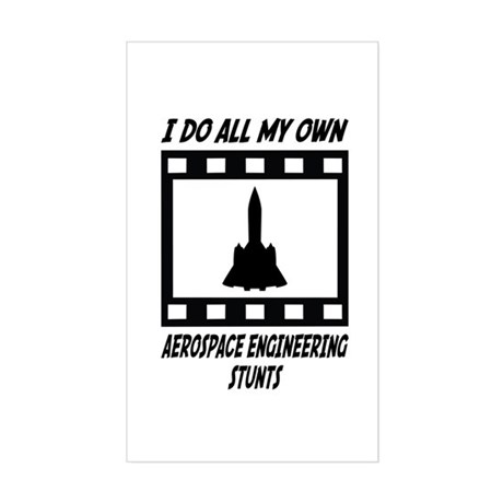 Aerospace Engineering Stunts Rectangle Sticker