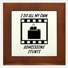 Admissions Stunts Framed Tile