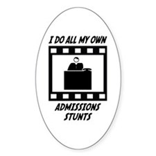 Admissions Stunts Oval Decal