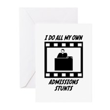 Admissions Stunts Greeting Cards (Pk of 20)
