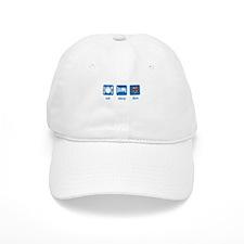 eat sleep dive (mask) Baseball Cap
