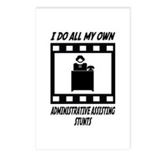 Administrative Assisting Stunts Postcards (Package
