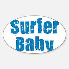 SURFER BOY TEE SHIRT CALIFORN Oval Decal