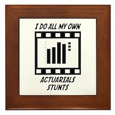 Actuarials Stunts Framed Tile