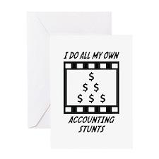 Accounting Stunts Greeting Card