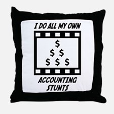 Accounting Stunts Throw Pillow