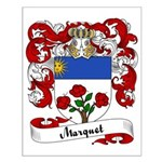 Marquet Family Crest Small Poster