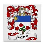 Marquet Family Crest Tile Coaster