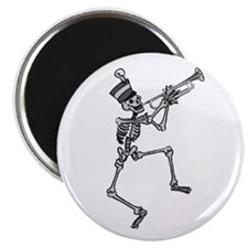 Skeleton Playing Trumpet Magnet