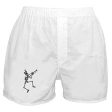 Skeleton Playing Trumpet Boxer Shorts