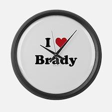 I love Brady Large Wall Clock