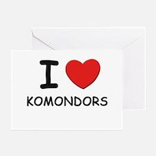 I love KOMONDORS Greeting Cards (Pk of 10)