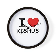 I love KISHUS Wall Clock