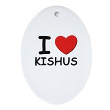 I love KISHUS Oval Ornament