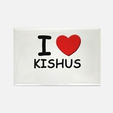 I love KISHUS Rectangle Magnet