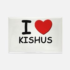 I love KISHUS Rectangle Magnet (10 pack)