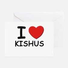 I love KISHUS Greeting Cards (Pk of 10)