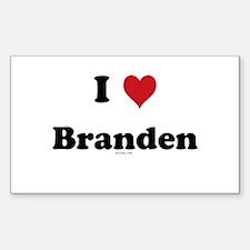 I love Branden Rectangle Decal