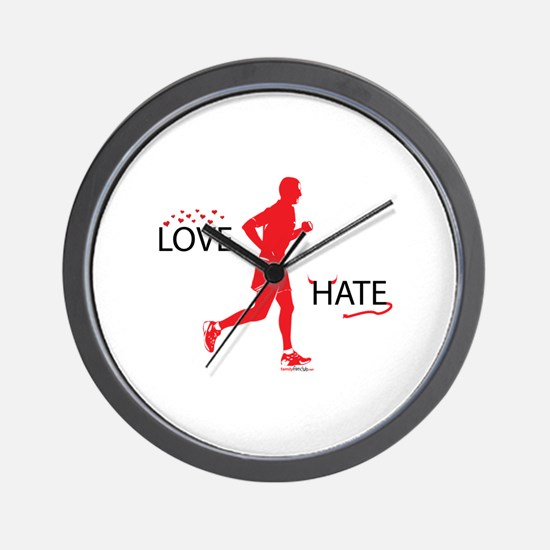Men's Love Hate Running Wall Clock