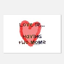 Love is Two Moms Postcards (Package of 8)