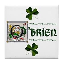 O'Brien Celtic Dragon Ceramic Tile