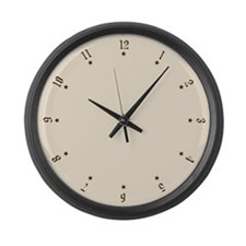 Quaint Antique Styled Numbers Large Wall Clock