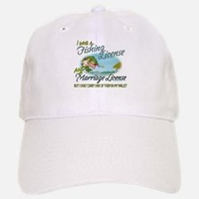 > Fishing - Marriage - License Baseball Baseball Cap