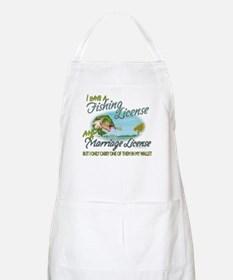 > Fishing - Marriage - License Apron