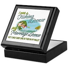 > Fishing - Marriage - License Keepsake Box