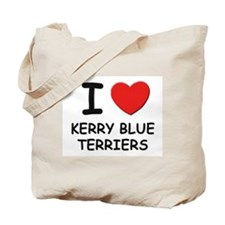 I love KERRY BLUE TERRIERS Tote Bag