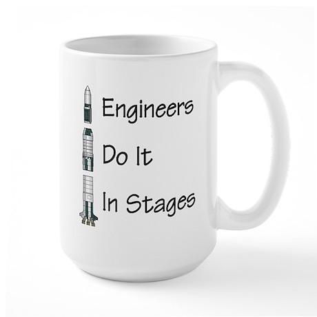 Engineer stages Large Mug