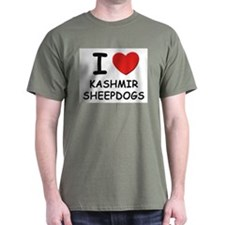 I love KASHMIR SHEEPDOGS T-Shirt
