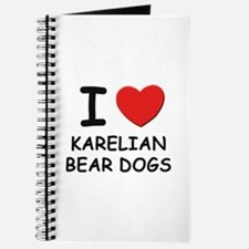 I love KARELIAN BEAR DOGS Journal