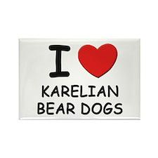 I love KARELIAN BEAR DOGS Rectangle Magnet (10 pac