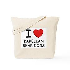 I love KARELIAN BEAR DOGS Tote Bag