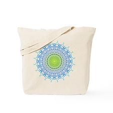 Kaleidoscope Initial J Tote Bag